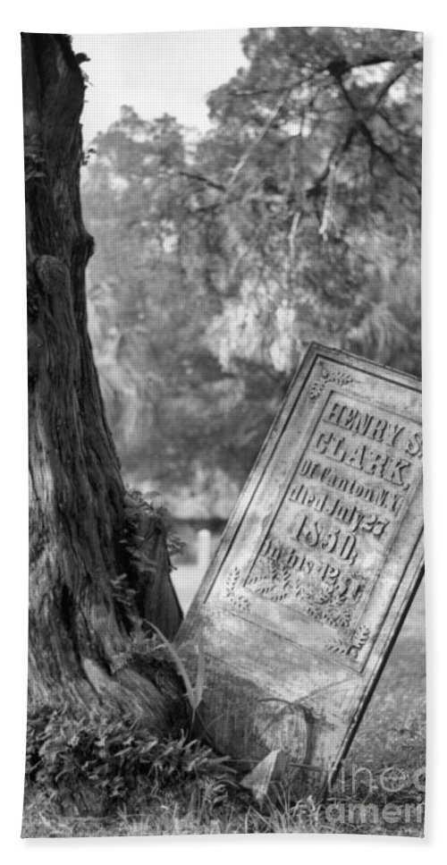 Graves Bath Towel featuring the photograph Life After Death by Richard Rizzo