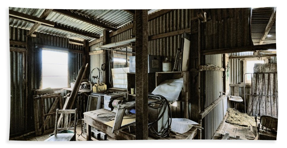Shed Hand Towel featuring the photograph Life As A Shed by Wayne Sherriff