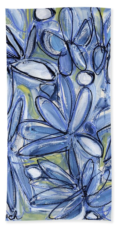Floral Bath Sheet featuring the painting Life Form One by Lynne Taetzsch