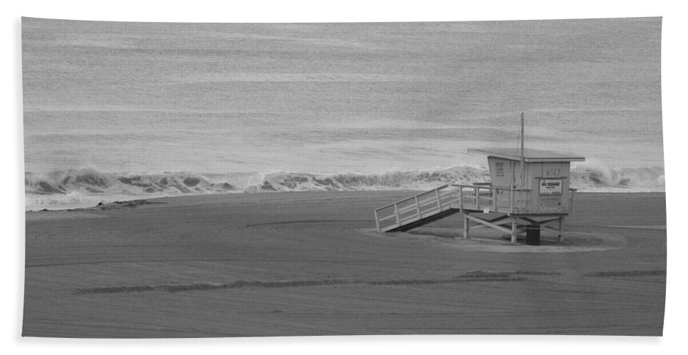 Beaches Bath Sheet featuring the photograph Life Guard Stand by Shari Chavira