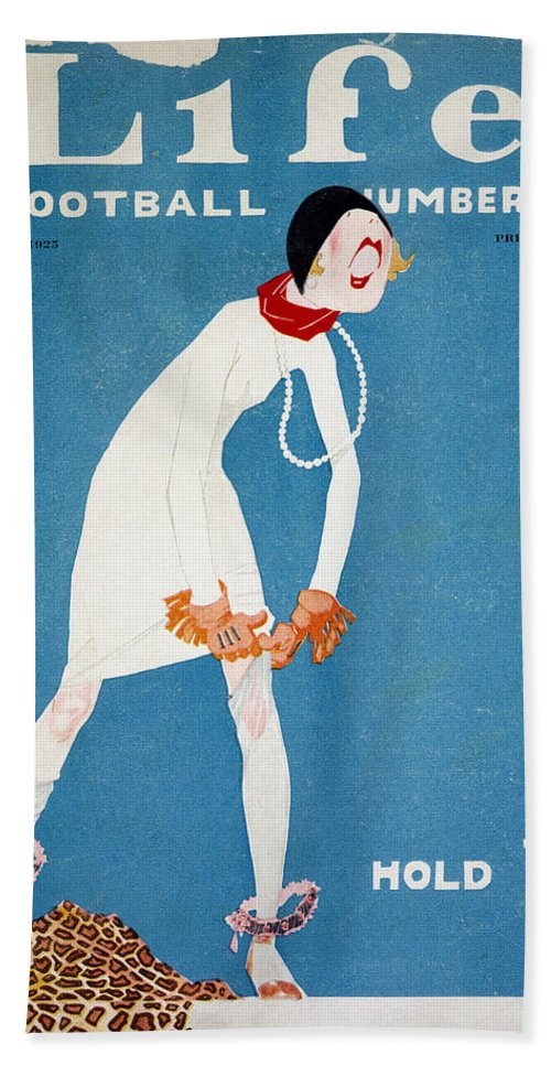 1925 Bath Sheet featuring the photograph Life: Hold Em, 1925 by Granger