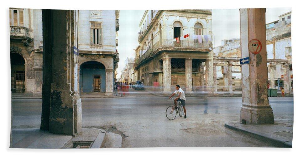 Cuba Hand Towel featuring the photograph Life In Cuba by Shaun Higson