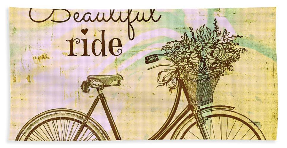 Brandi Fitzgerald Hand Towel featuring the digital art Life Is A Beautiful Ride by Brandi Fitzgerald
