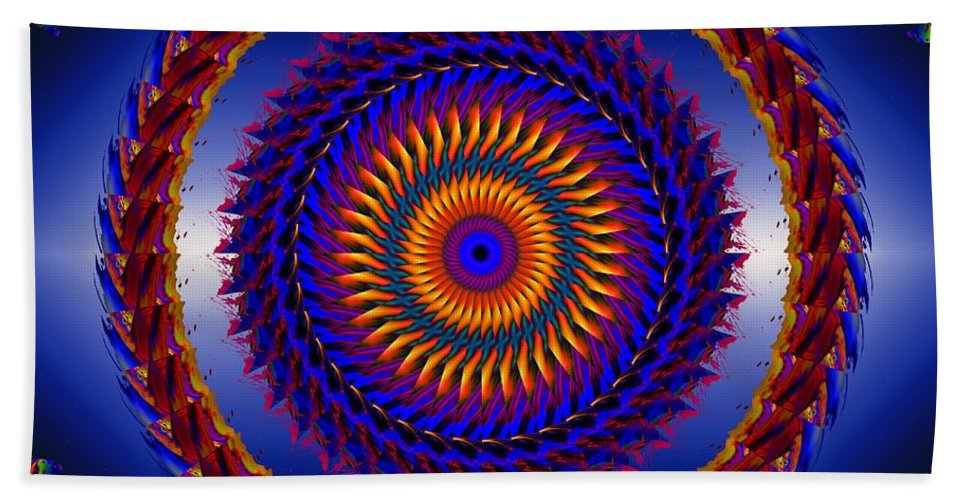 Circle Hand Towel featuring the digital art Life Is Good by Robert Orinski