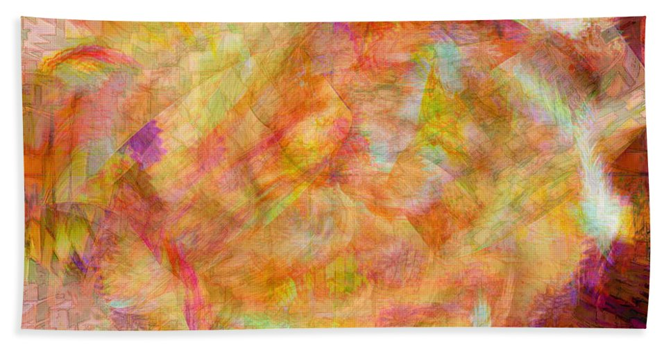Abstracts Bath Sheet featuring the digital art Life by Linda Sannuti