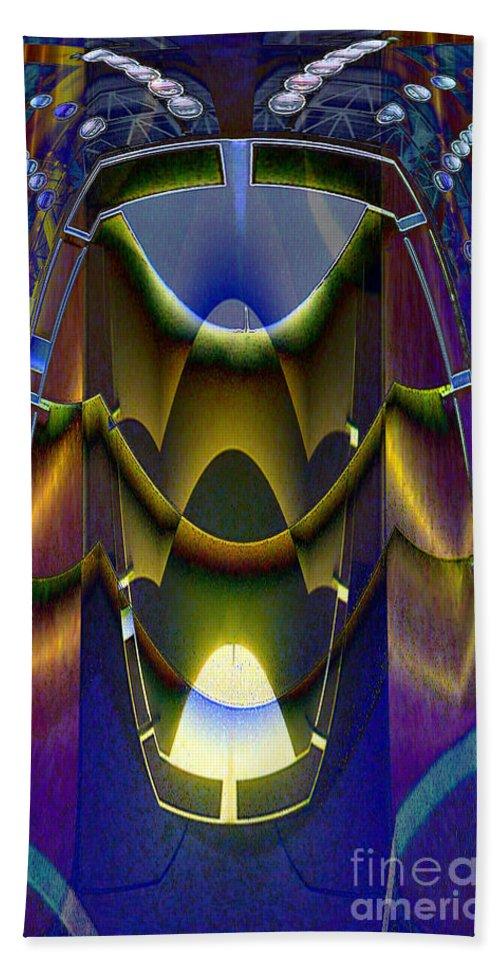 Robot Bath Sheet featuring the digital art Life Nonorganic by Ron Bissett