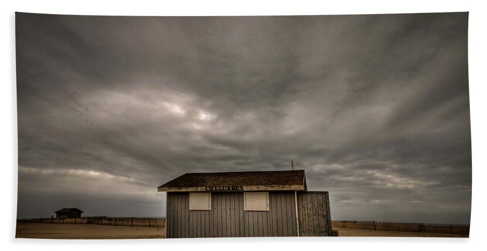 Beach Hand Towel featuring the photograph Lifeguard Shack by Evelina Kremsdorf