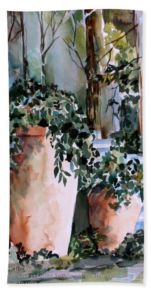 Garden Bath Sheet featuring the painting Light in Capri by Mindy Newman