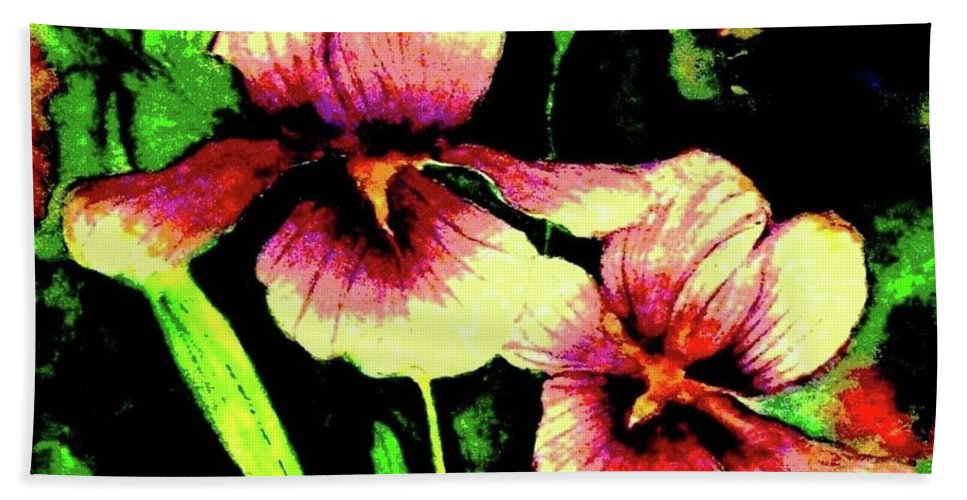 Flowers Bath Sheet featuring the painting Light Dispels Darkness by Hazel Holland