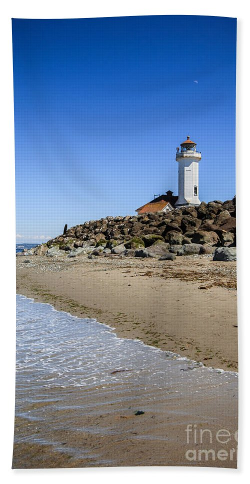 Lighthouse Photography Bath Sheet featuring the photograph Light House - Port Townsend, Wa by Lucid Mood