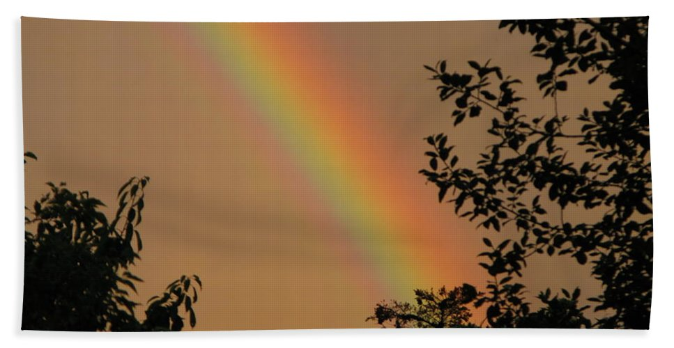 Rainbow Hand Towel featuring the photograph Light by Maria Joy