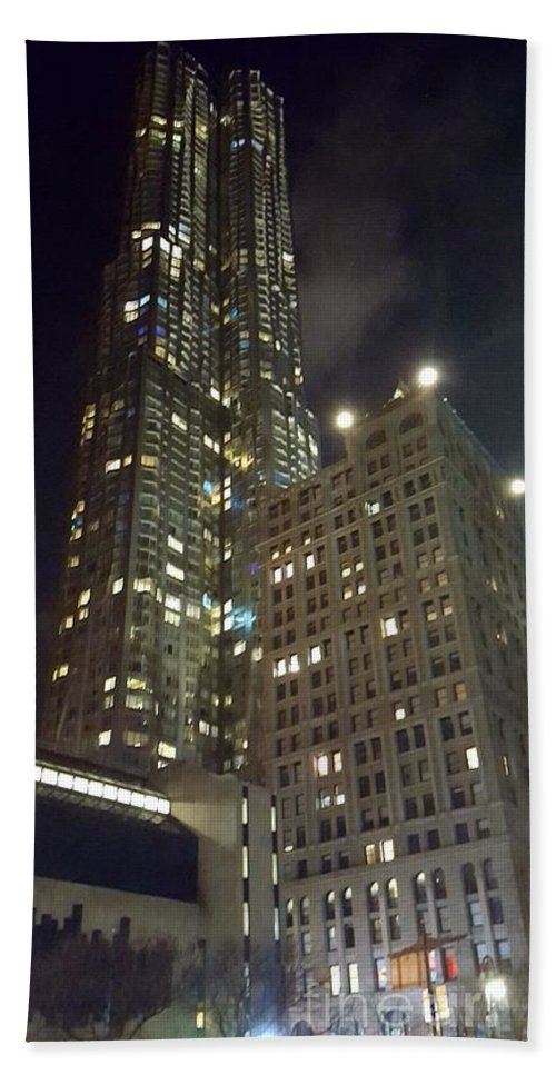 City Hand Towel featuring the photograph Light Up The City by Jamel Thomas