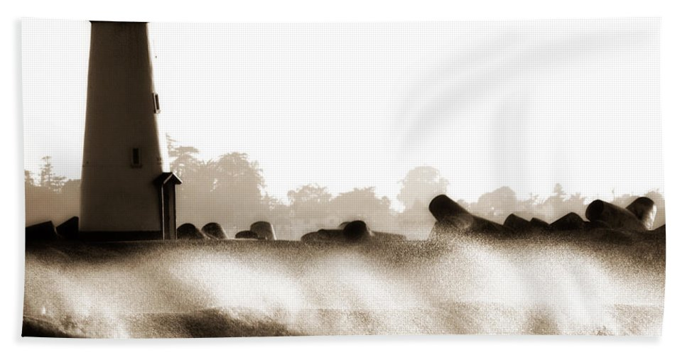 Lighthouse Hand Towel featuring the photograph Lighthouse 3 Dreamy by Marilyn Hunt