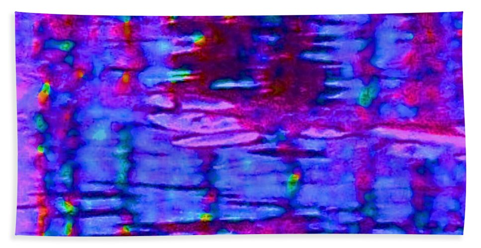 Light Bath Sheet featuring the painting Lighthouse Abstract by Eric Schiabor