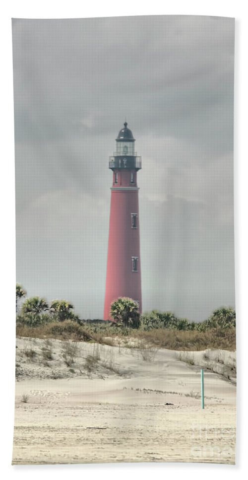 Lighthouse Hand Towel featuring the photograph Lighthouse At Ponce Inlet by Deborah Benoit