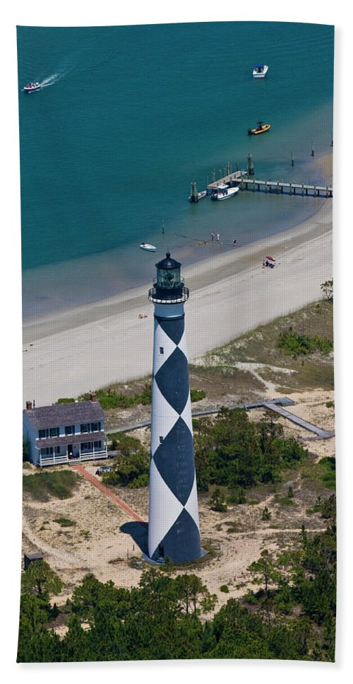 Cape Hand Towel featuring the photograph Lighthouse From Above by Betsy Knapp