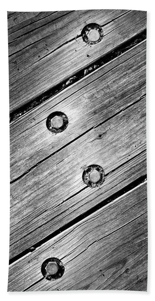 Wood Bath Sheet featuring the photograph Lightning Bolt by Luke Moore