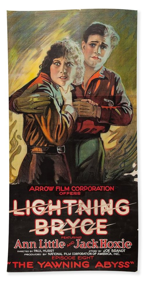 Movie Bath Sheet featuring the drawing Lightning Bryce 1919 by Mountain Dreams