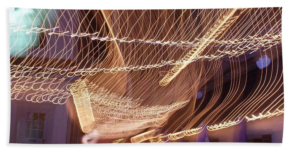 Photograph Hand Towel featuring the photograph Lights That Dance Together by Thomas Valentine
