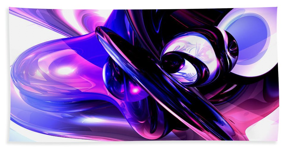 3d Hand Towel featuring the digital art Lilac Fantasy Abstract by Alexander Butler