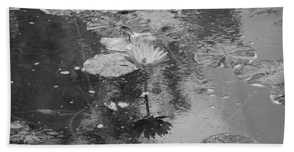 Lilly Pond Hand Towel featuring the photograph Lilly Pond by Rob Hans