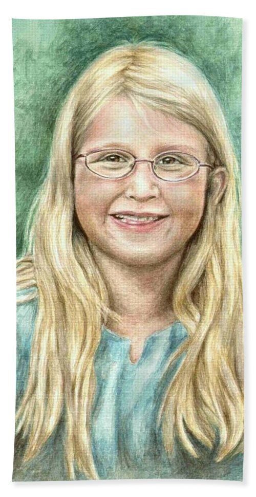 Girl Bath Towel featuring the painting Lily by Nicole Zeug