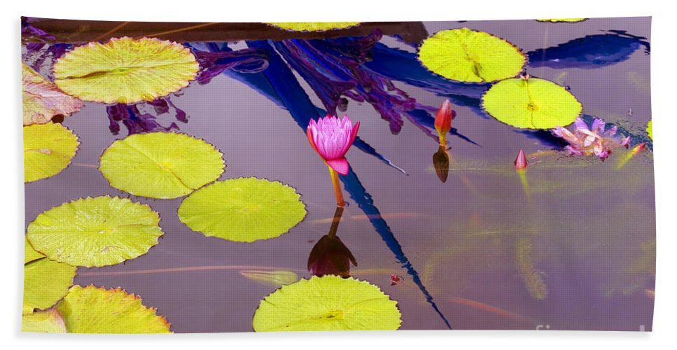 Lily Pad Bath Sheet featuring the photograph Lily Pads 2 by Madeline Ellis