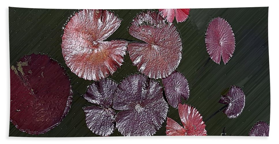 Lily Bath Sheet featuring the photograph Lily Pads In The Pond by Gary Richards