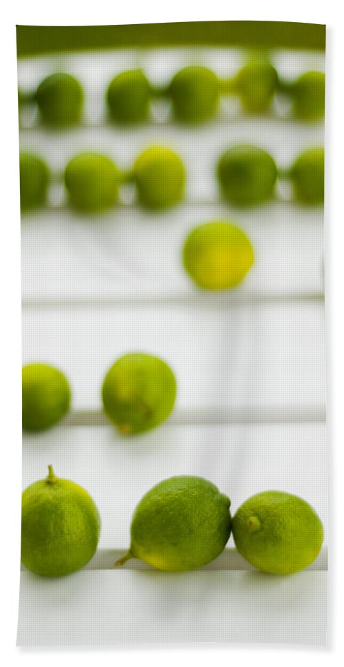 Green Bath Sheet featuring the photograph Lime Green by Skip Hunt