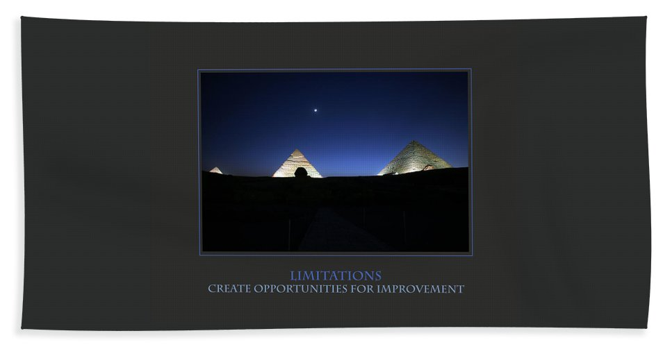 Motivational Bath Sheet featuring the photograph Limitations Create Opportunities For Improvement by Donna Corless