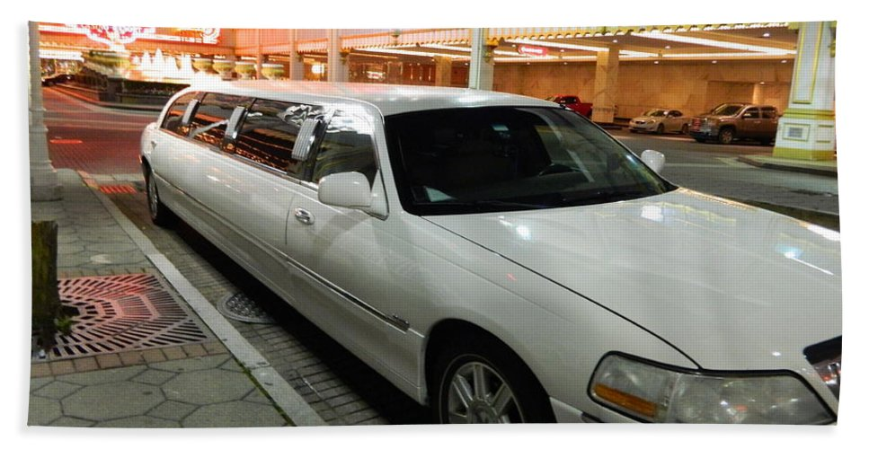Limo Hand Towel featuring the photograph Limo Waiting by Arlane Crump