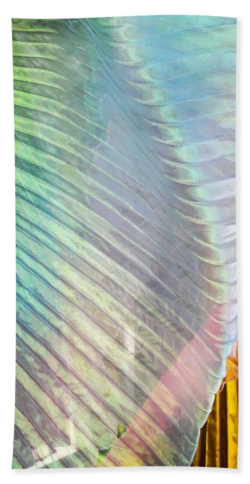Abstract Hand Towel featuring the photograph Linen Astract by Greg Kear