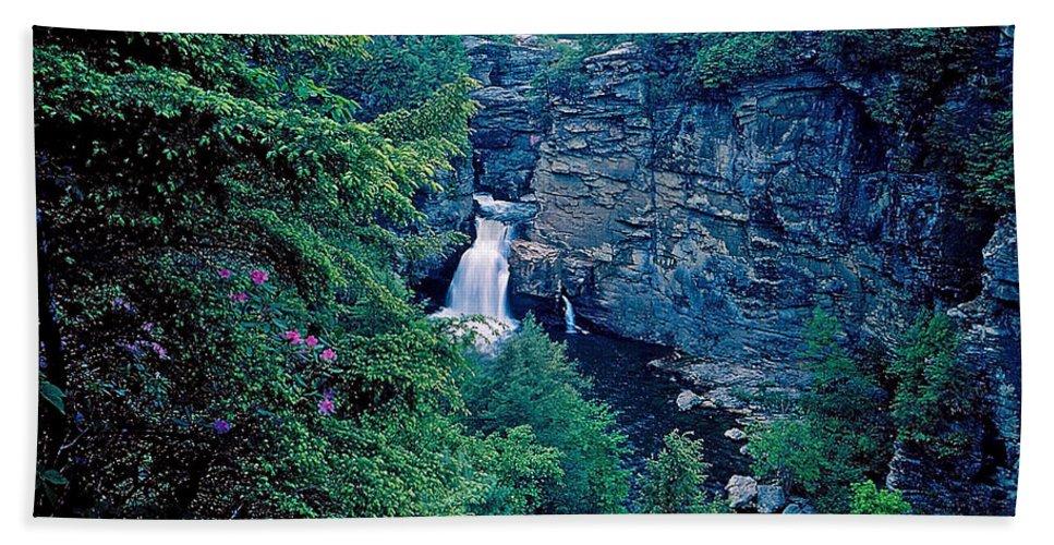 North Carolina Bath Sheet featuring the photograph Linville Falls - North Carolina by Rich Walter