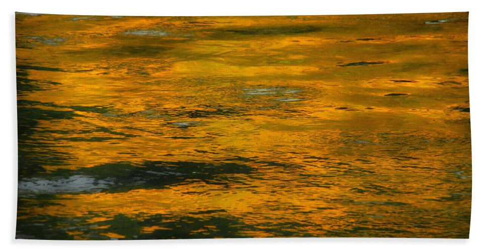 Water Hand Towel featuring the photograph Liquid Fire by Donna Blackhall