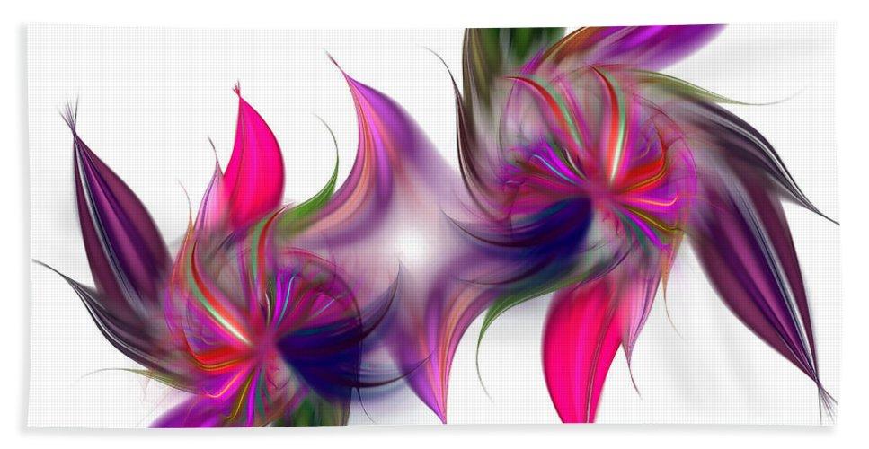 Abstract Hand Towel featuring the digital art Liquidity Of Math by Georgiana Romanovna