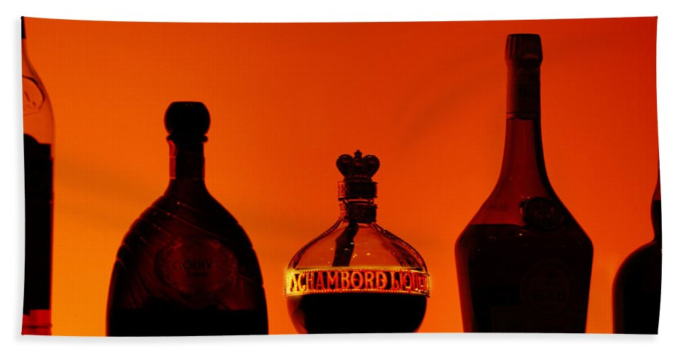 Still Life Bath Sheet featuring the photograph Liquor Still Life by Jill Reger