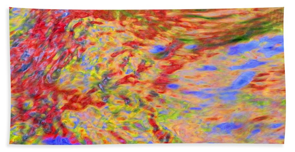 Abstract Hand Towel featuring the photograph Listening To The Water by Sybil Staples