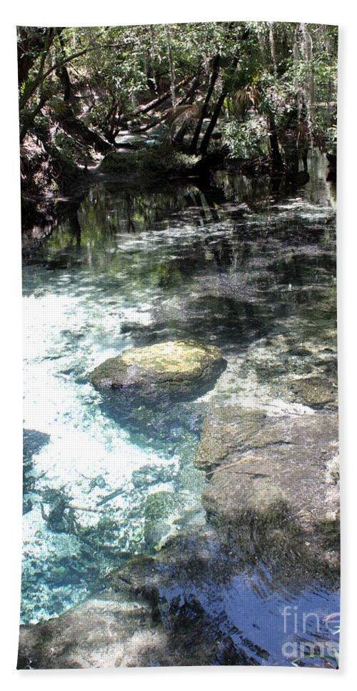 Lithia Springs Bath Sheet featuring the photograph Lithia Springs by Carol Groenen