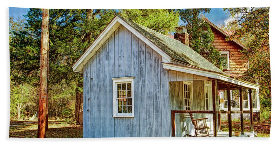 Recent Hand Towel featuring the photograph Little Cabin In The Country Pine Barrens Of New Jersey by Geraldine Scull