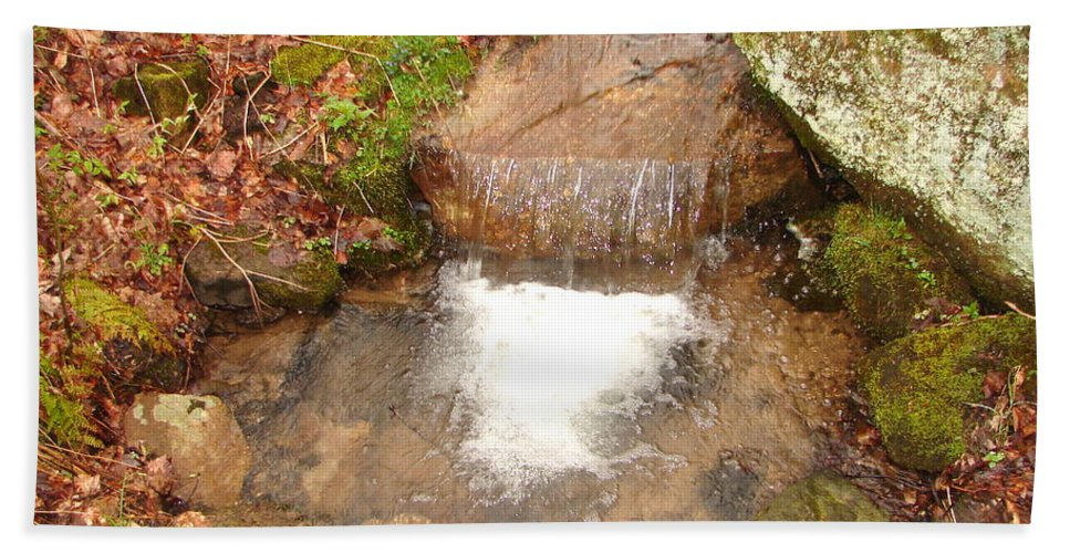 Water Falls Hand Towel featuring the photograph Little Falls by Penny Neimiller