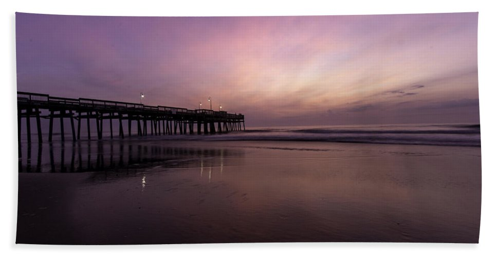 Sunrise Bath Sheet featuring the photograph Little Island Sunrise by Pete Federico