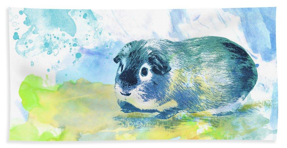 Photo Bath Sheet featuring the digital art Little Lady Gwilwilith by Jutta Maria Pusl