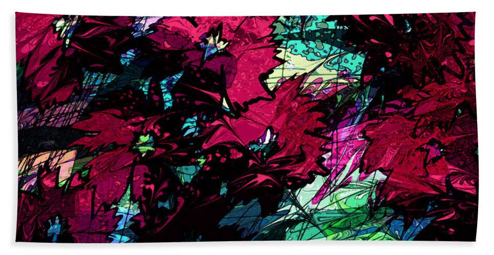 Abstract Bath Sheet featuring the digital art Little Miracles by Rachel Christine Nowicki