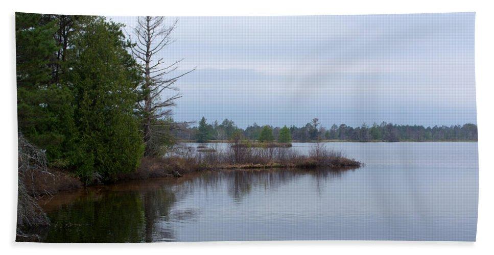 Nature Bath Sheet featuring the photograph Little Peninsula by Linda Kerkau