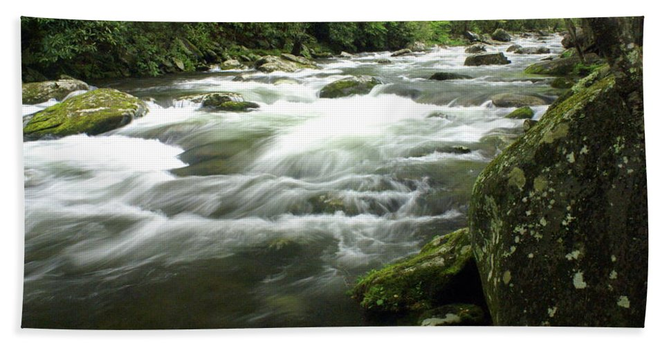 Little River Bath Sheet featuring the photograph Little River 3 by Marty Koch