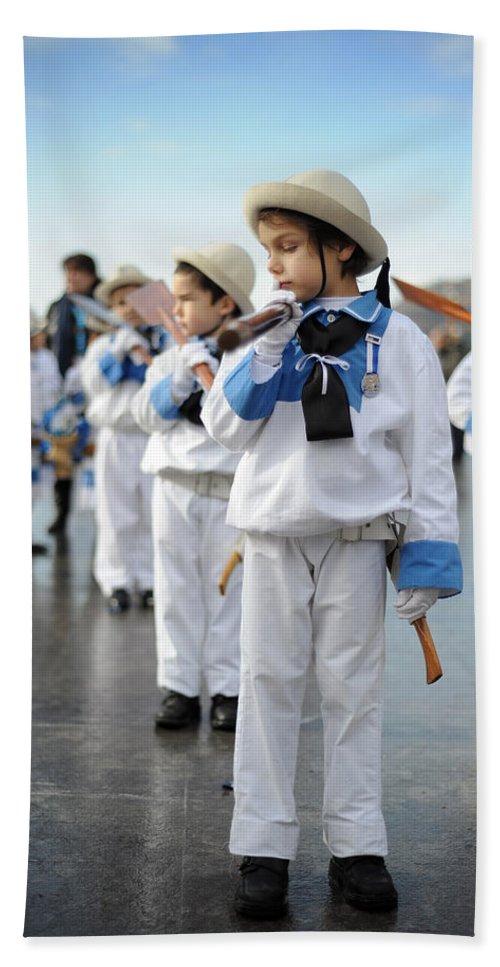 Spain Hand Towel featuring the photograph Little Sailors by Rafa Rivas