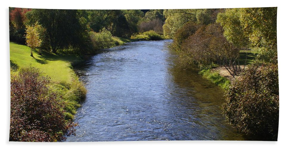 Nature Hand Towel featuring the photograph Little Spokane River by Ben Upham III