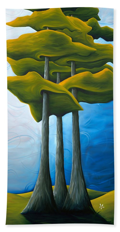 Landscape Hand Towel featuring the painting Living In The Shadow by Richard Hoedl