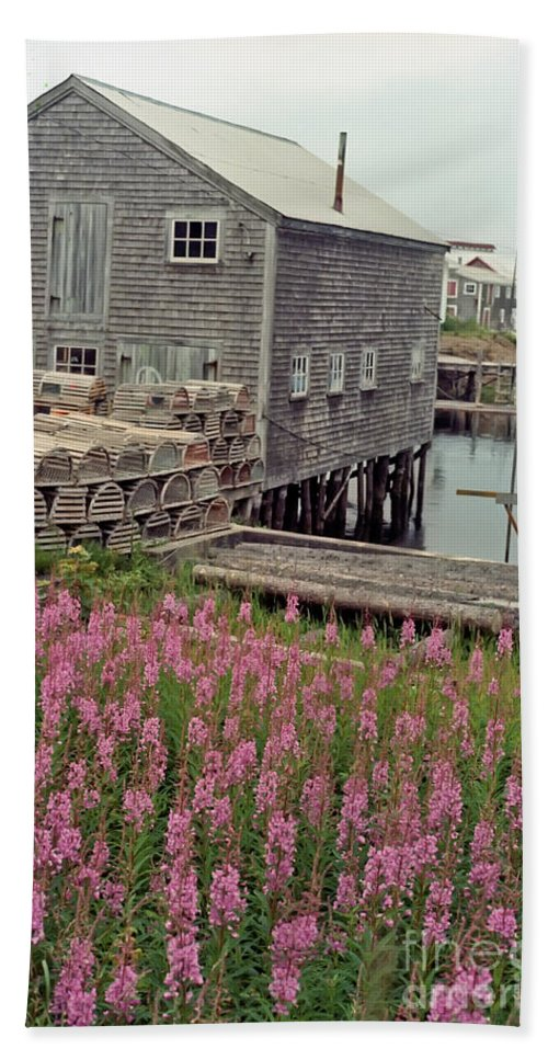 Lobster Hand Towel featuring the photograph Lobster House Grand Manan by Thomas Marchessault