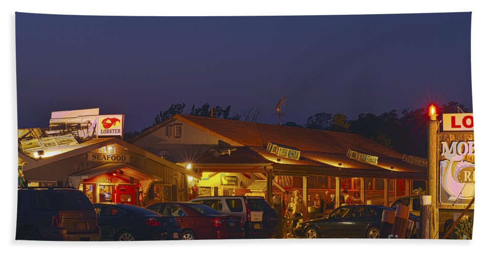 Cape Cod Hand Towel featuring the photograph Lobster Pound. by John Greim